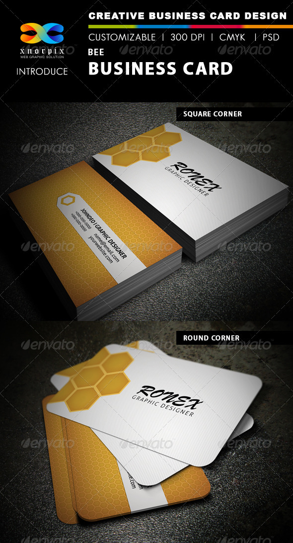 Bee Business Card - Creative Business Cards