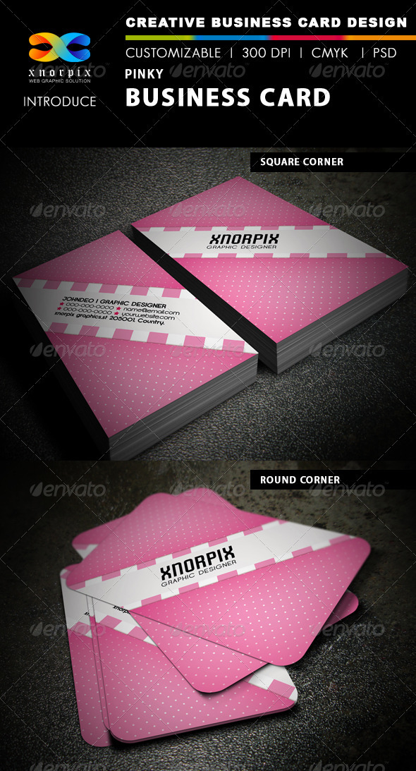 Pinky Business Card - Creative Business Cards