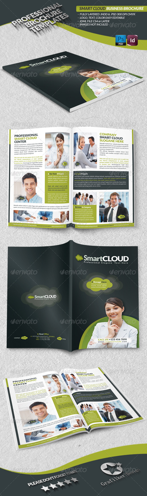 GraphicRiver Smart Cloud Business Brochure 3762090