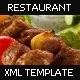 Restaurant Flash XML Template v1 - ActiveDen Item for Sale
