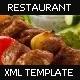 Restaurant Flash XML Template v1 - ActiveDen Item for Sale