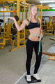 Sexy Blonde Girl in Fitness Studio on Scale - PhotoDune Item for Sale