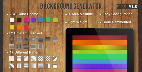 CodeCanyon Background Generator 3764351