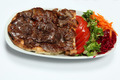 Turkish Food: Kebab in Plate + Salad - PhotoDune Item for Sale