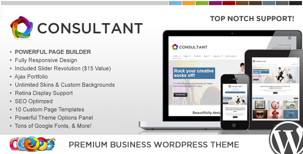 WP Consultant  Responsive Multipurpose Theme
