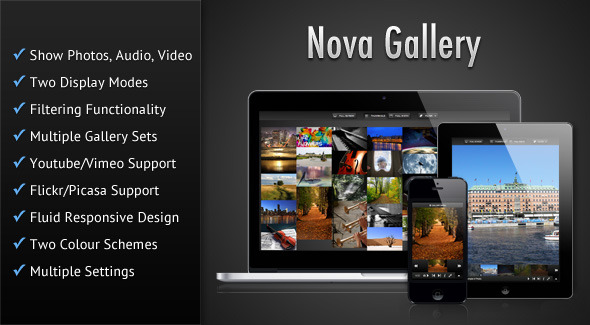 Nova Gallery - tumutugon HTML5 Multimedia Gallery