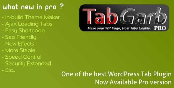 CodeCanyon TabGarb Pro WordPress Tab Plugin 3749858