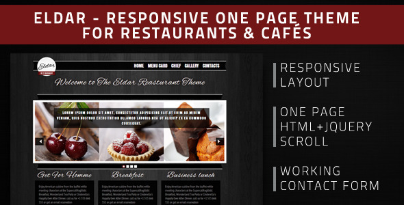 ThemeForest Eldar HTML Theme For Restaurants & Cafes 3327302