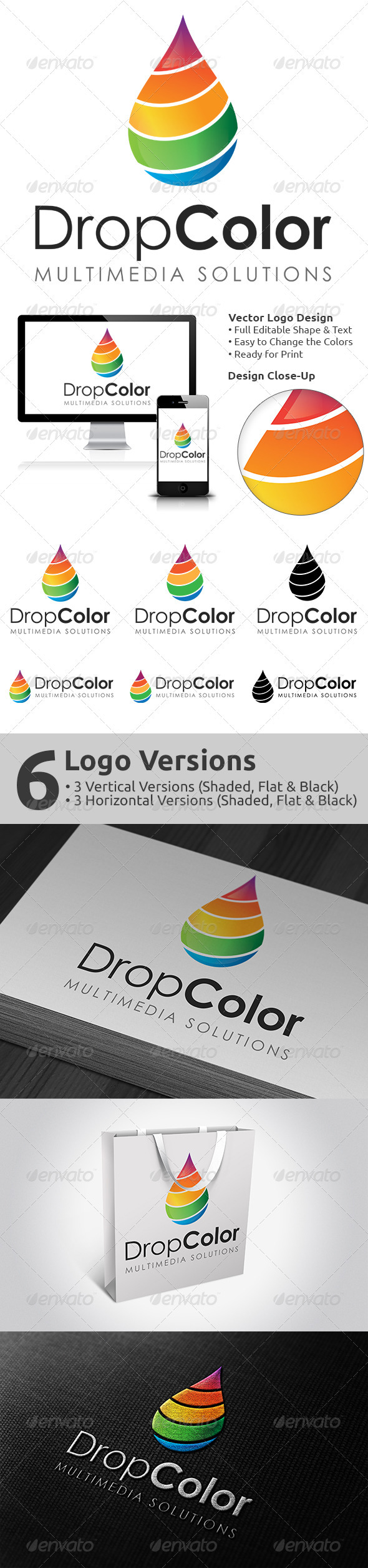 GraphicRiver DropColor Logo Design 3713994