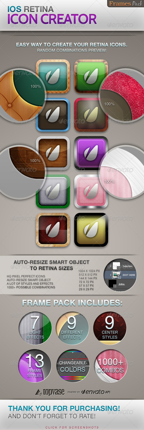 iOS Retina Icon Creator - Software Icons