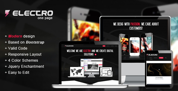 Electro - Responsive HTML Template - Creative Site Templates
