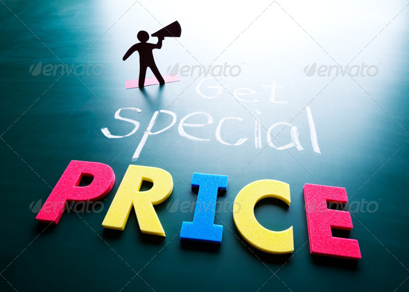 Get special price concept - Stock Photo - Images