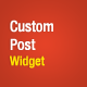 Custom Post Widget - WordPress Premium Plugin - CodeCanyon Item for Sale