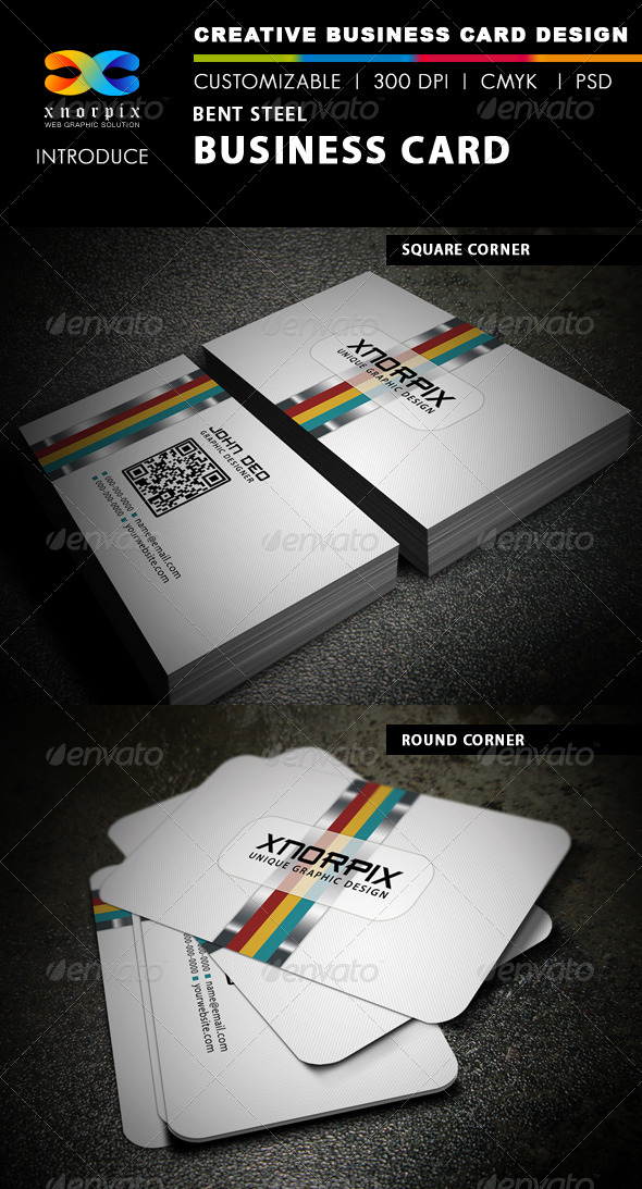 Bent Steel Business Card - Creative Business Cards