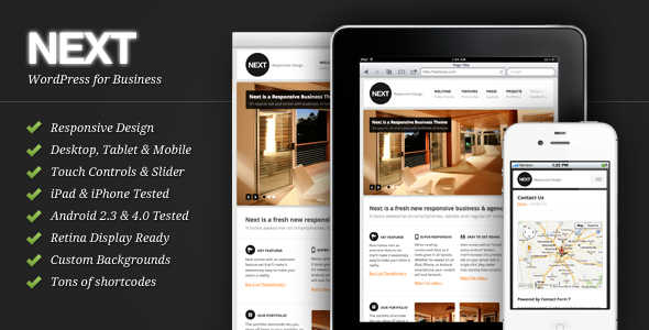 Next - Responsive Business WordPress Theme - Corporate WordPress