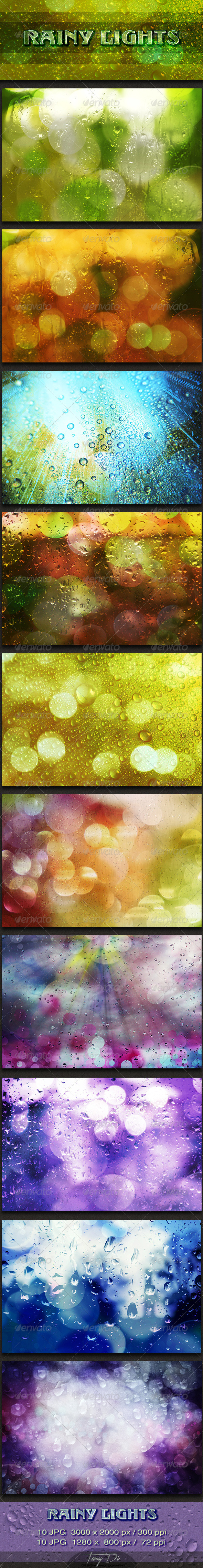Rainy Lights - Miscellaneous Backgrounds
