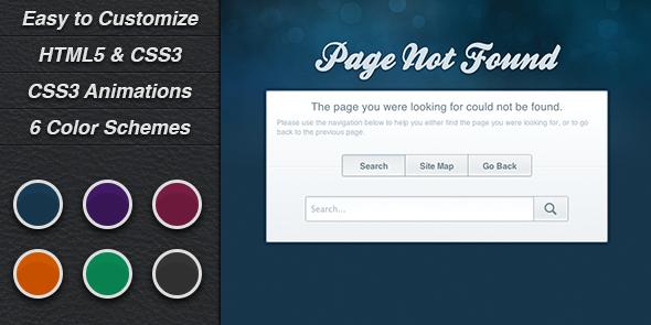 ThemeForest Evolve 404 Error Pages 3770788