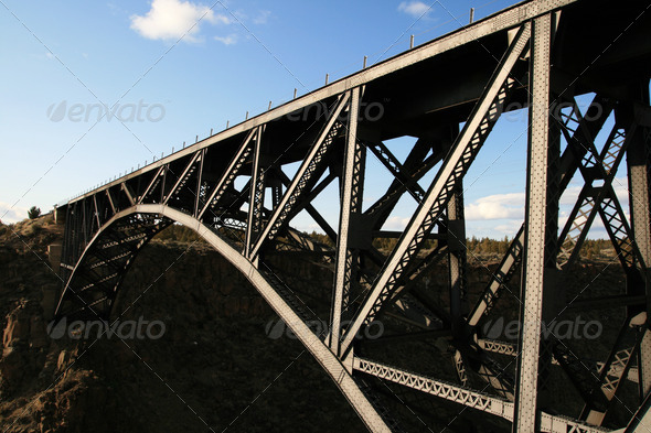 steel bridge - Stock Photo - Images
