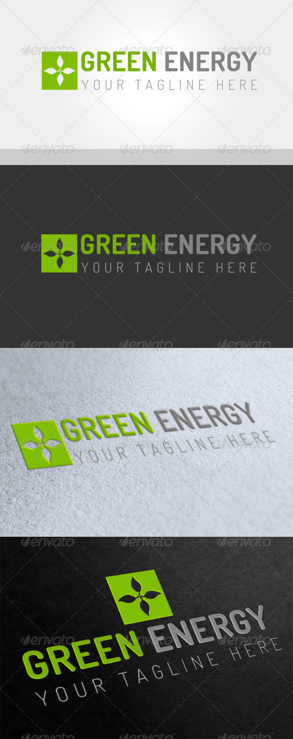 GraphicRiver Green Energy Logo 3713606