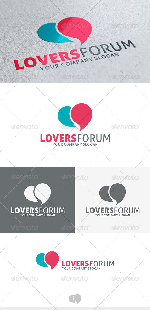 Lovers Forum Logo - Vector Abstract