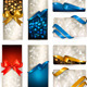 Set of beautiful Gift cards with color gift bows - GraphicRiver Item for Sale