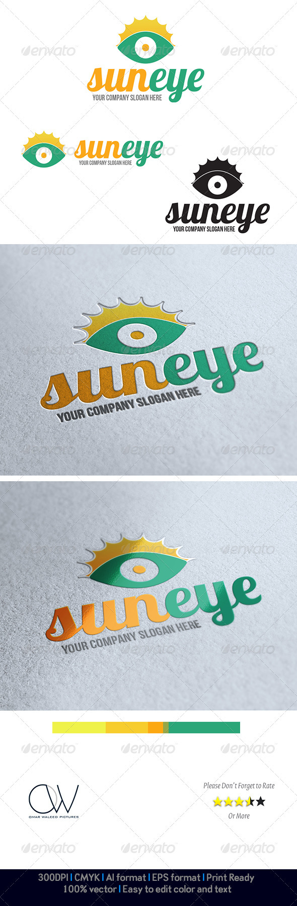 Sun Eye Logo - Humans Logo Templates
