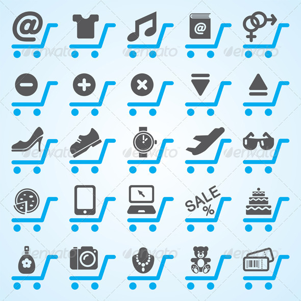 GraphicRiver Shopping And E-Commerce Icons 3771855