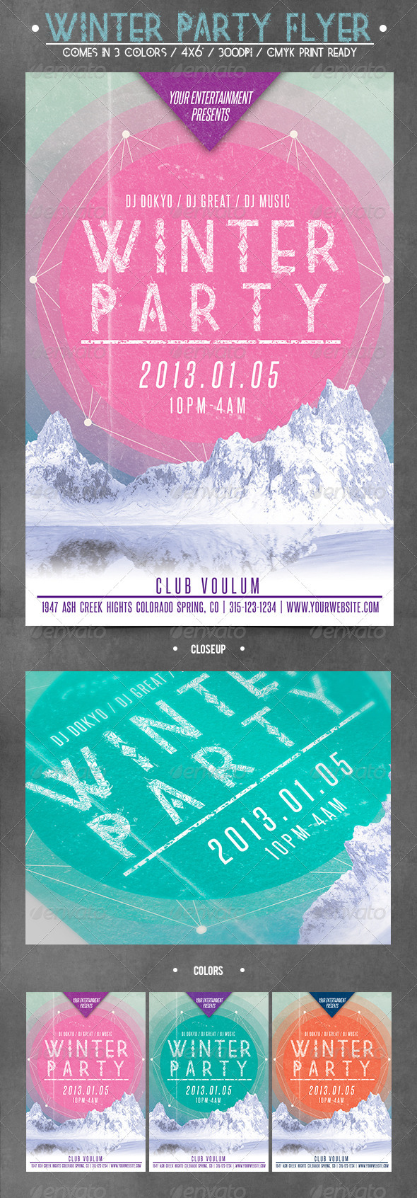 graphicriver winter flyer bundle 6484445 graphicriver winter party flyer 3714034 created