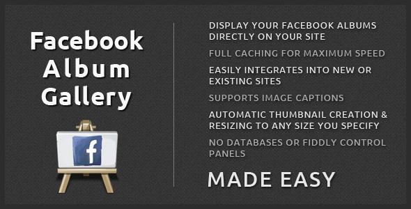 Facebook Album Gallery - CodeCanyon
