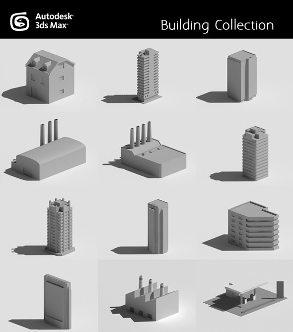 3DOcean Buildings Collection 3772187