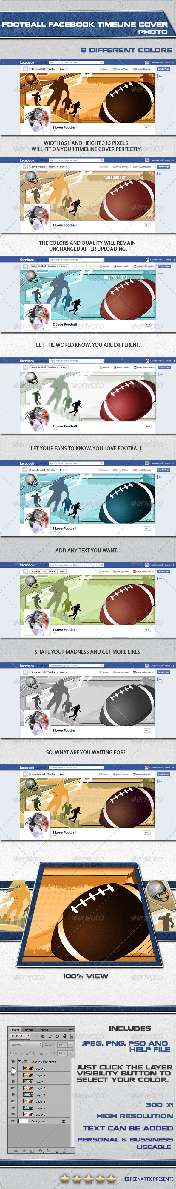 GraphicRiver Football FB Timeline Cover Photo 3703676