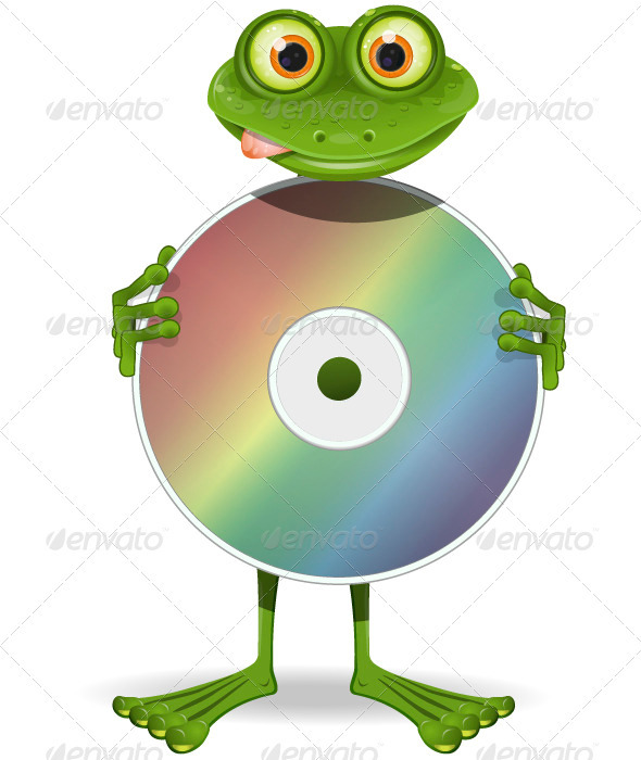 GraphicRiver Frog and CD 3773441