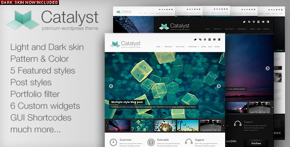 ThemeForest Catalyst Wordpress Portfolio Theme 246080