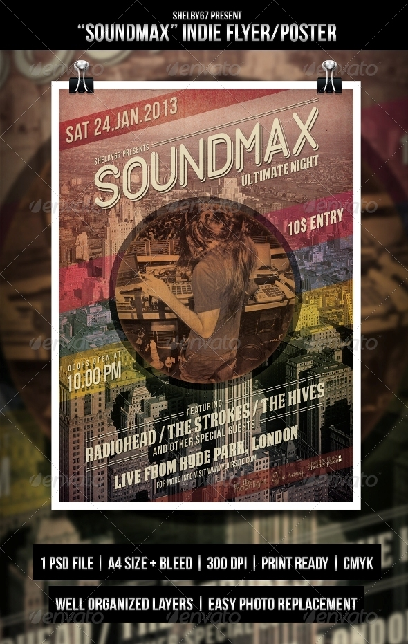 Soundmax Flyer / Poster - Events Flyers
