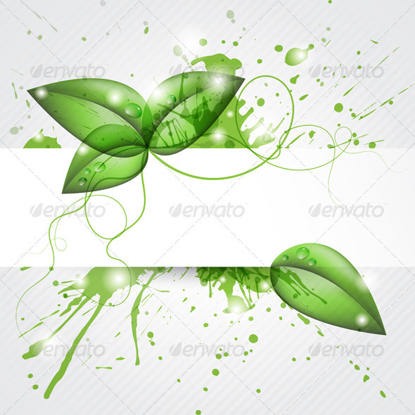 GraphicRiver Leaves Background 3775307