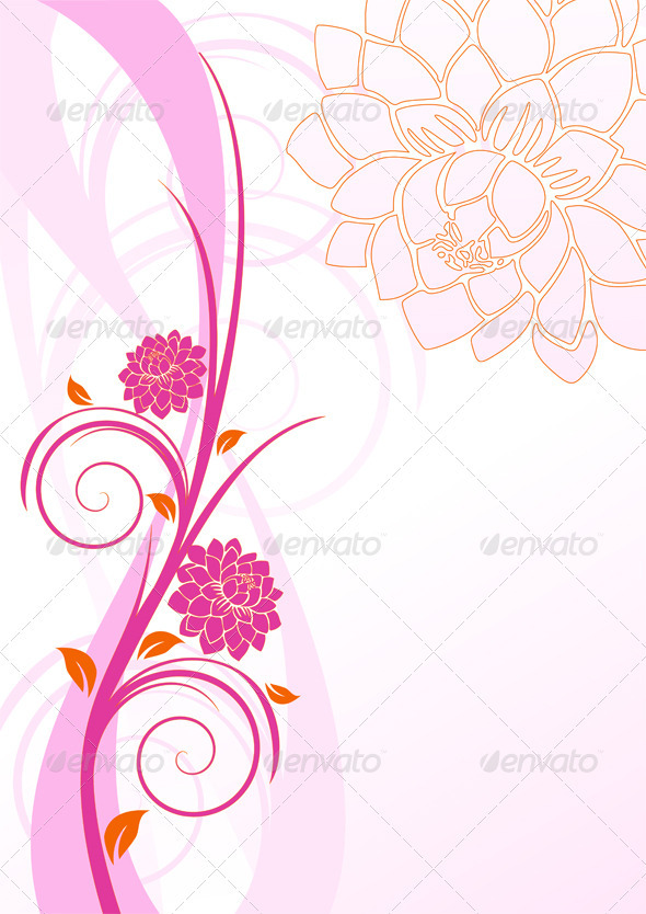 GraphicRiver Swirl and Flowers 3775612