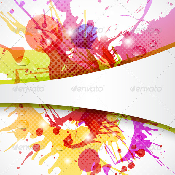 GraphicRiver Background Element with Color Splashes 3775622