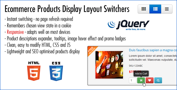 Ecommerce Products Display Layout Switchers - CodeCanyon Item for Sale