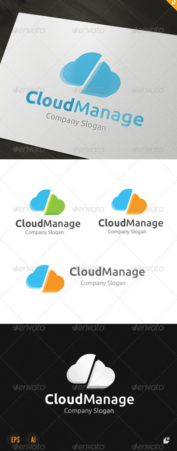 GraphicRiver Cloud Manage Logo 3685792