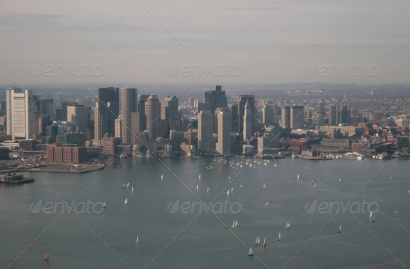 Boston harbor - Stock Photo - Images
