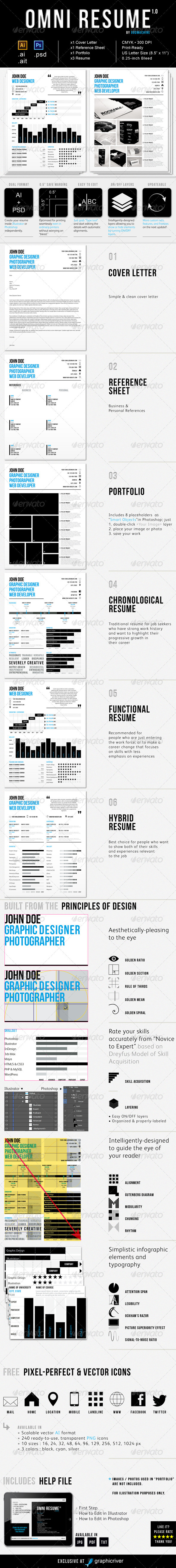 GraphicRiver Omni Resume 3719044