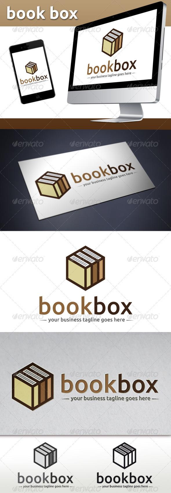 GraphicRiver Book Store Logo Template Book Cube 3776429