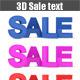Sale Text 3D - GraphicRiver Item for Sale