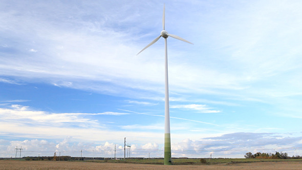 Wind Turbine In the Field VideoHive Stock Footage  Technology 3776988