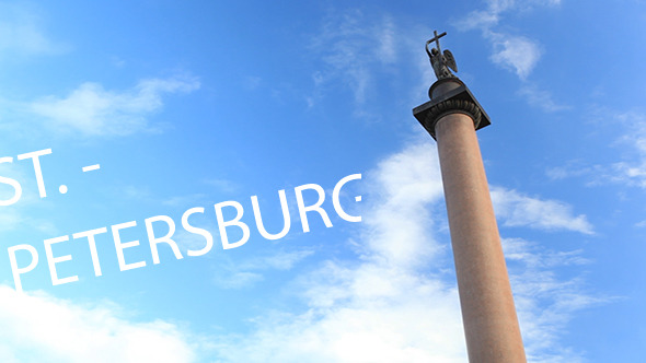 Time Lapse of Alexander Column in St Petersburg VideoHive Stock Footage  Time Lapse 3777205