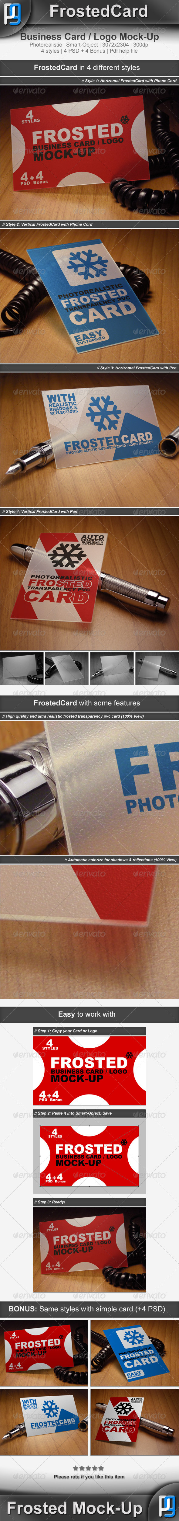 GraphicRiver Frosted Card Logo Mock-Up 3777250