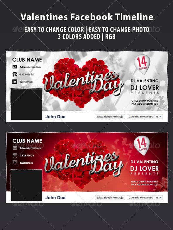 GraphicRiver Fb Valentines Timeline 3777251