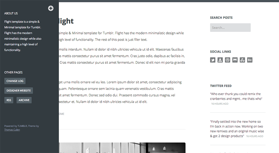 Flight - A Clean & Responsive Template