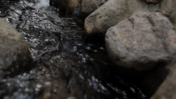 Water Flows Among the Stones VideoHive Stock Footage  Nature 3777276