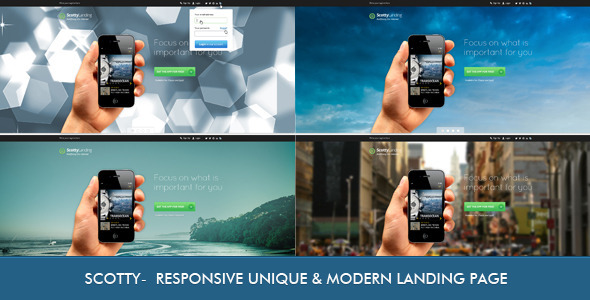 Scotty - Responsive Landing Page - Apps Technology
